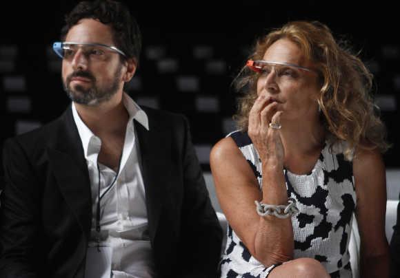 Sergey Brin with designer Diane von Furstenberg.