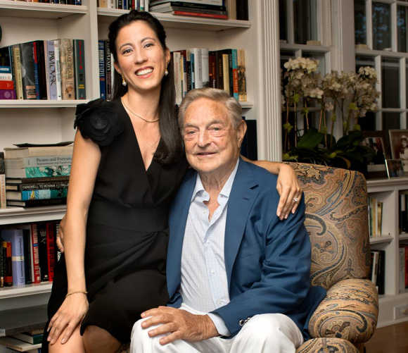 George Soros with girlfriend Tamiko Bolton.