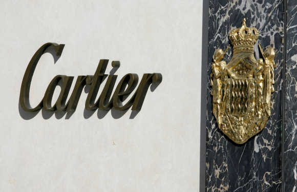 A view of Cartier jewellery boutique on Rodeo Drive in Beverly Hills, California.