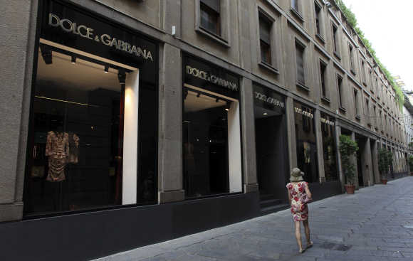 A view of Dolce and Gabbana showroom in downtown Milan.