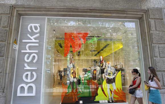 A Bershka store in Barcelona.
