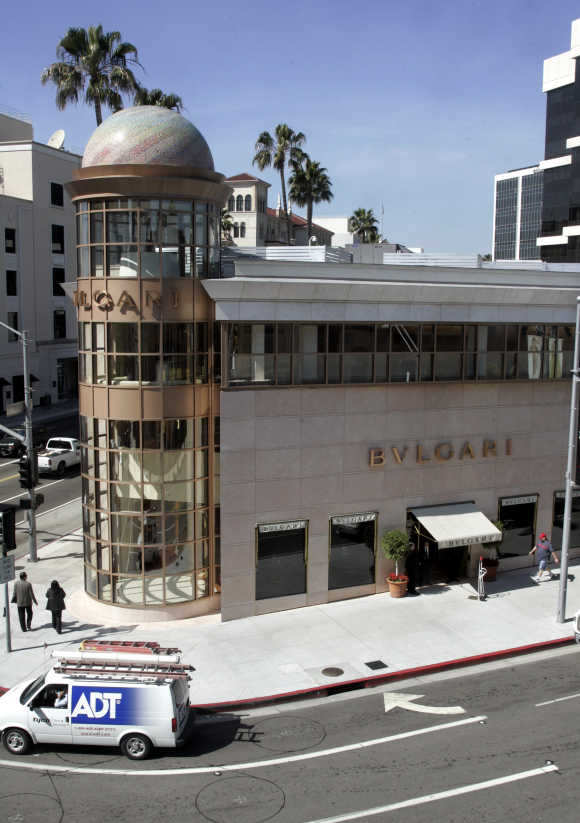Bvlgari boutique along Rodeo Drive in Beverly Hills, California.