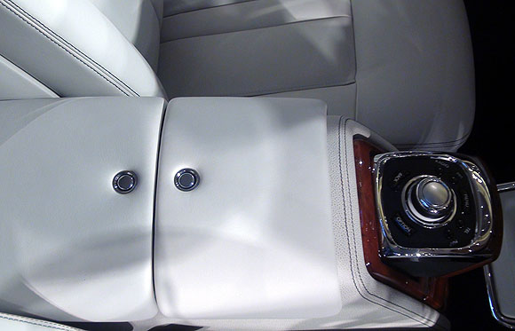 The front centre console (closed).