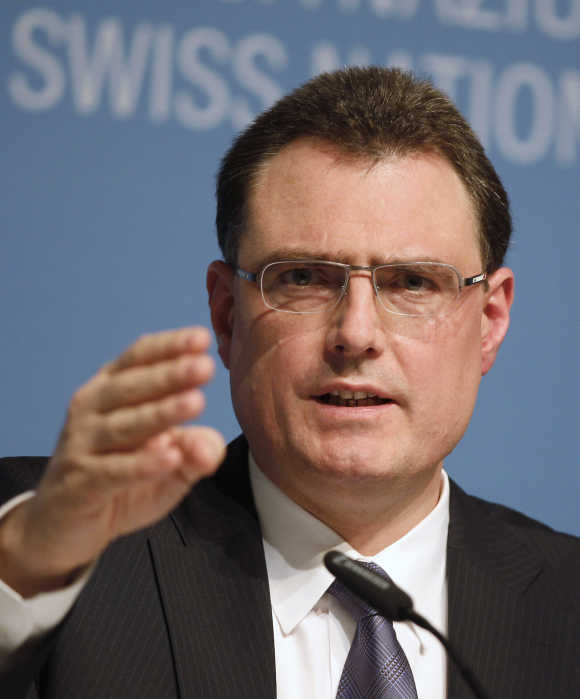 Swiss National Bank Chairman Thomas Jordan.