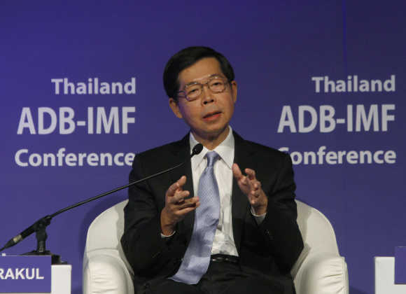 Thailand's Central Bank Governor Prasarn Trairatvorakul.