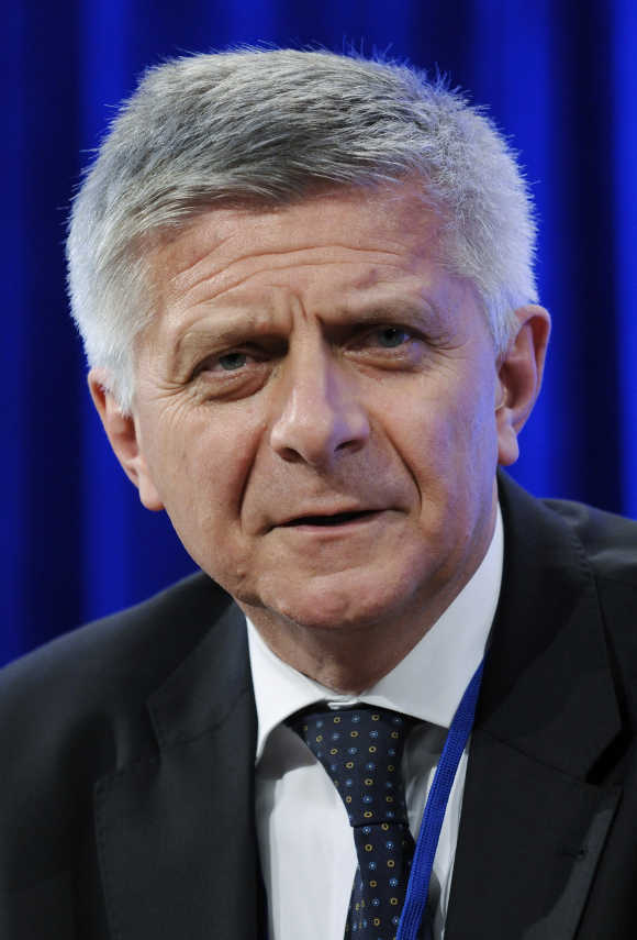 Poland's central bank governor Marek Belka.