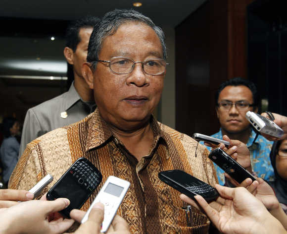 Indonesia's Central Bank Governor Darmin Nasution.
