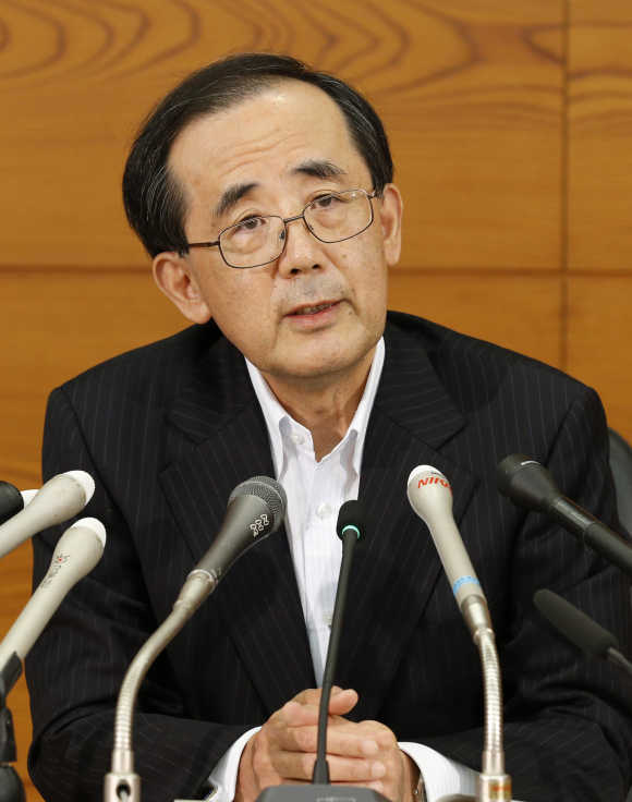 Bank of Japan Governor Masaaki Shirakawa.