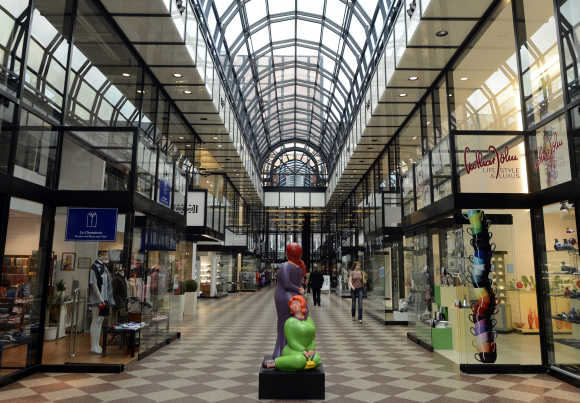 Galerie Luise shopping mall in downtown Hanover.