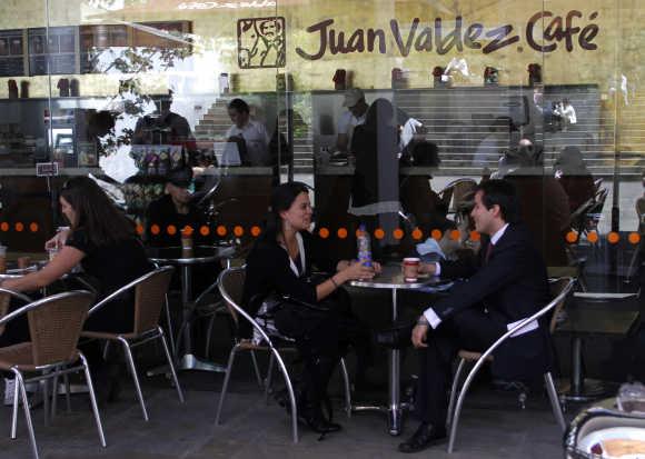 A cafe in Bogota.