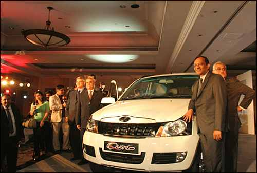 The launch of Mahindra Quanto.