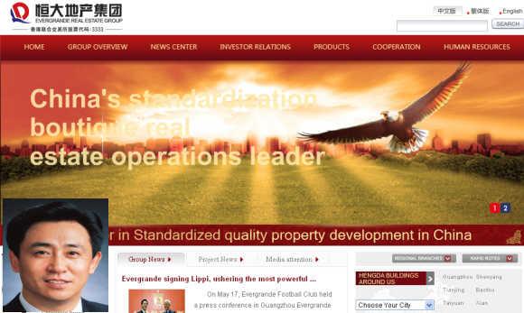 Hui Ka Yan, inset, Founder, Evergrande Real Estate Group Ltd.