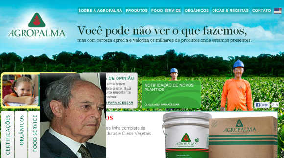 Aloysio de Andrade Faria, inset, owner, Agropalma.