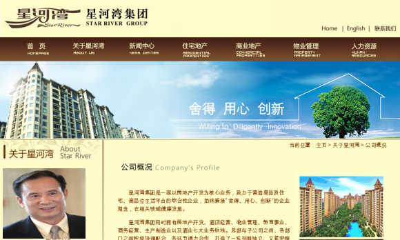 Huang Wenzai, inset, CEO, Star River Property Holding Ltd.