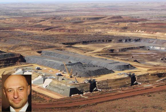 Gennady Borisovich Bogolyubov, inset, controls Australia's biggest manganese mine.
