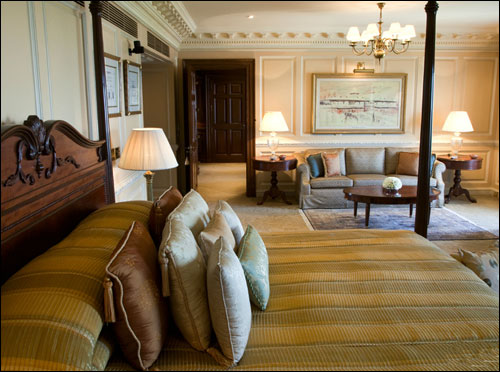 The Grand Presidential Suite Bedroom.