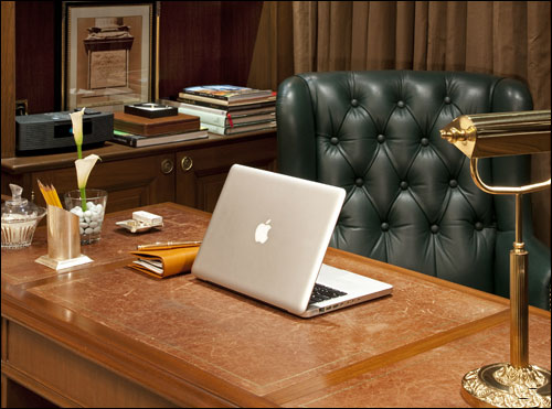 The Grand Presidential Suite Study Area.