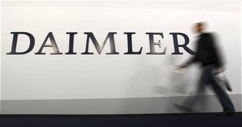 A shareholder arrives to a Daimler AG annual shareholder meeting in Berlin.