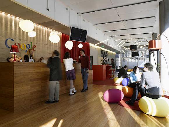 A view of Google's office in Zurich, Switzerland.