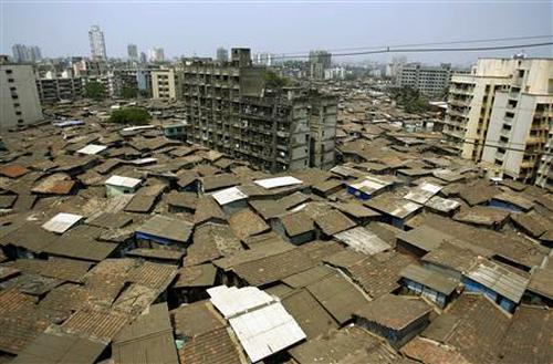 A view of Dharavi, Asia's biggest shantytown.
