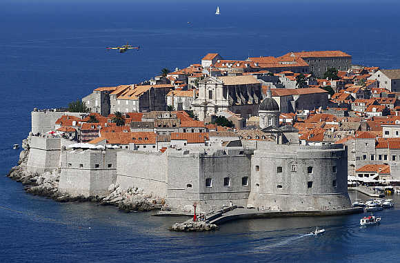 A view of Unesco's protected medieval town of Dubrovnik in Croatia.