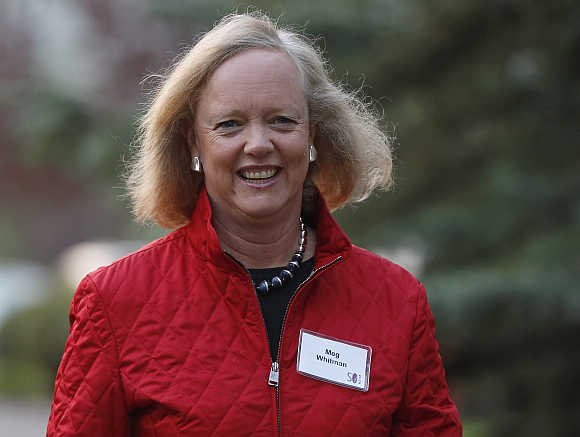 Hewlett Packard CEO and President Meg Whitman in Sun Valley, Idaho, United States.