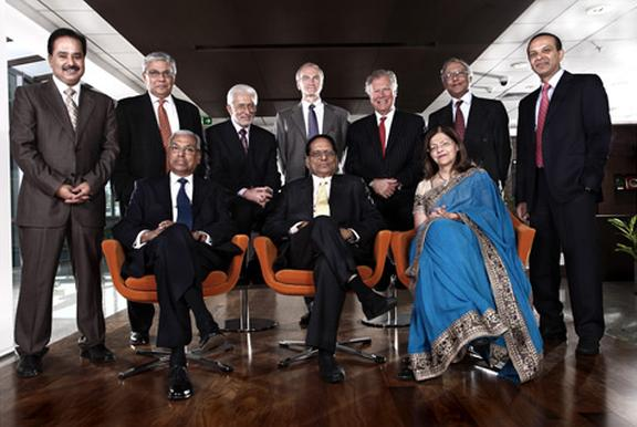 Dr. Reddy's Board of Directors. Sitting at the centre is late K Anji Reddy.