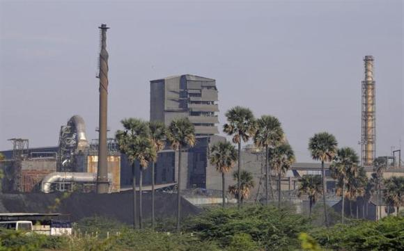 A general view shows Sterlite Industries Ltd's copper plant in Tuticorin, in Tamil Nadu.
