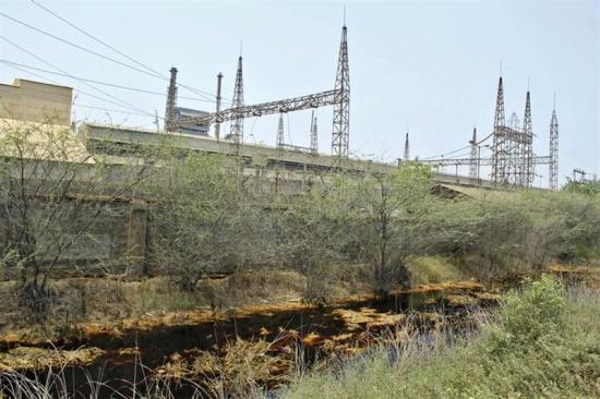 A view shows the backyard of Sterlite Industries Ltd's copper plant in Tuticorin.