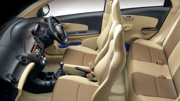 Interior of Honda Brio.