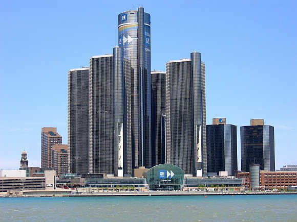 Renaissance Center in Detroit, United States.