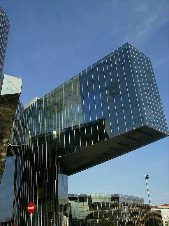 Gas Natural company's headquarters, Torre Mare Nostrum in Barcelona, Spain.