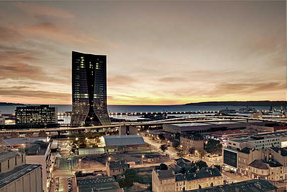 CMA CGM headquarters in Marseille, France.