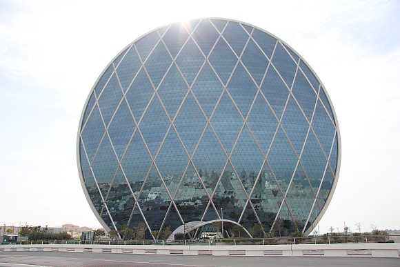 Aldar Headquarters in Al Raha Beach, United Arab Emirates.