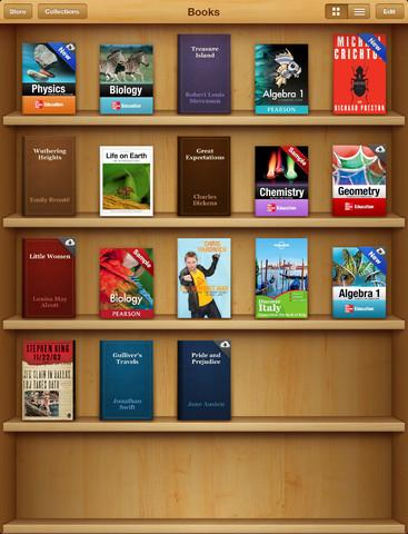 Screenshot of iBooks app.