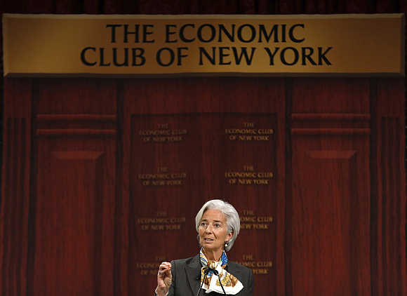 International Monetary Fund Managing Director Christine Lagarde at the Economic Club of New York.