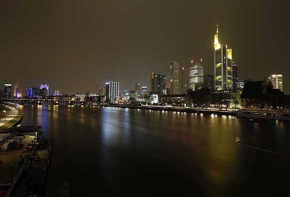 A view of Frankfurt, Germany.