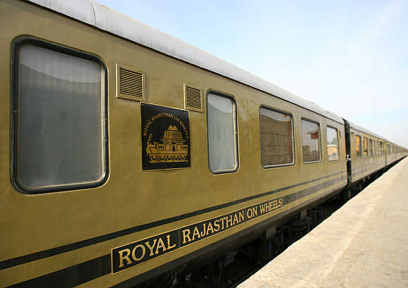Luxury train Royal Rajasthan on Wheels in Jaisalmer, Rajasthan.