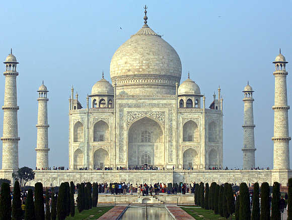 Taj Mahal in Agra. Many weddings take place in cities like Agra.
