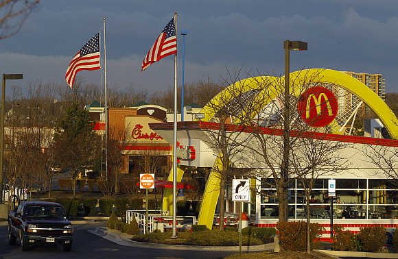 A retro McDonald's restaurant in Arundel Mills, Maryland, United States.