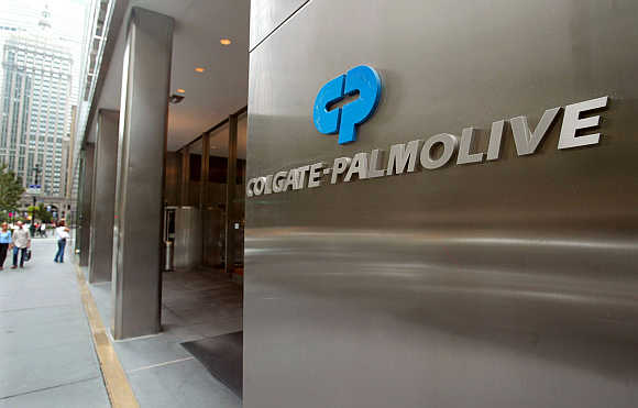 A view of Colgate-Palmolive World headquaters in New York City.