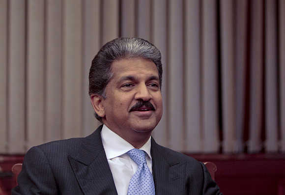 Anand Mahindra, Chairman and Managing Director of Mahindra & Mahindra, in Mumbai.