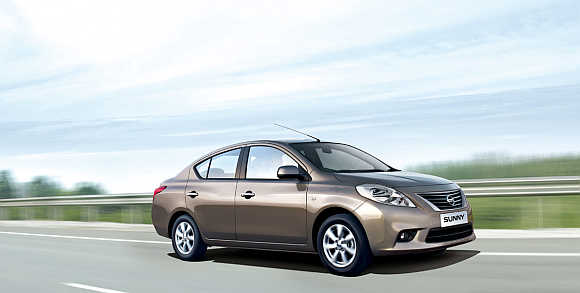 A view of Nissan Sunny.