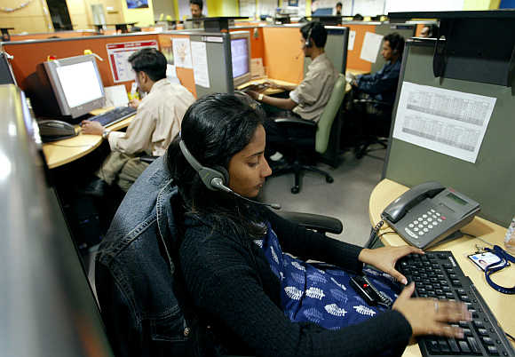 There are businesses that still believe that customers are key to their existence. A call centre in Bangalore.