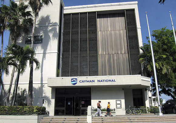 A branch of the Cayman National Bank in George Town, Cayman Islands.