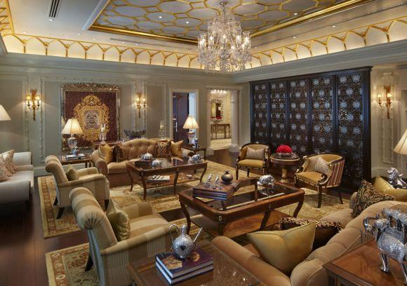 Presidential suite at The Leela Palace, New Delhi.