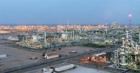 Reliance Industries petrochemical plant at Jamnagar.