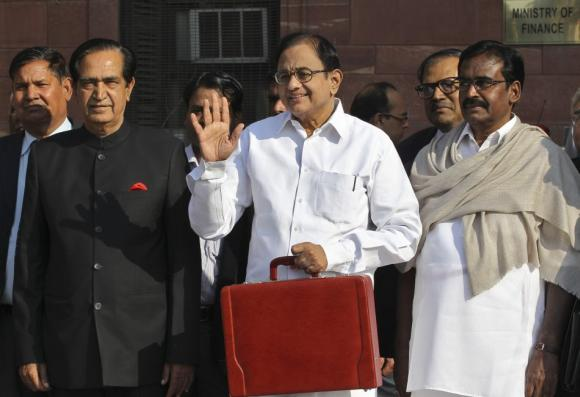 P Chidambaram (C). Though the government managed to bring down fiscal deficit, the CAD will be higher compared to last financial year.