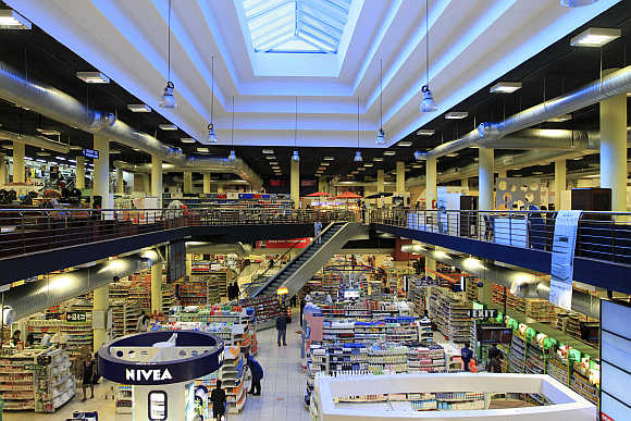 A view of Nakumatt's shopping mall in Nairobi, Kenya.