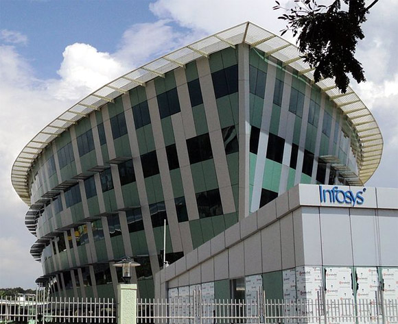 A  building in the Infosys Thiruvananthapuram in Technopark Phase 3.